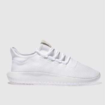 Adidas White TUBULAR SHADOW Trainers