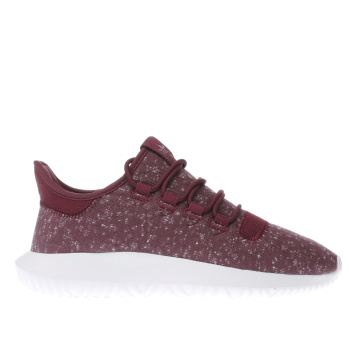 ADIDAS BURGUNDY TUBULAR SHADOW TRAINERS
