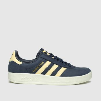 Adidas Navy & Stone Trimm Trab Samstag c2namevalue::Mens Trainers