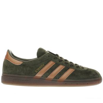 Men Adidas Munchen Trainers Khaki