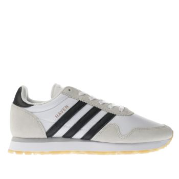 ADIDAS WHITE & BLACK HAVEN TRAINERS