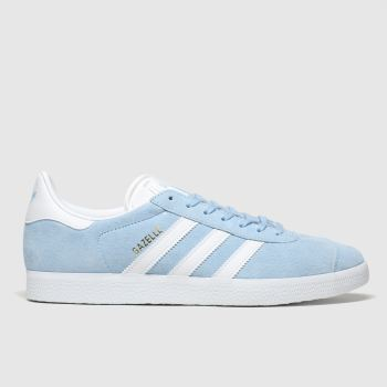 adidas pale blue gazelle trainers