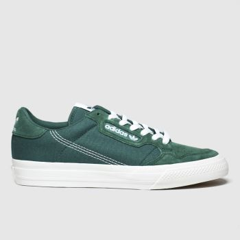Adidas Dark Green Continental 80 Vulc c2namevalue::Mens Trainers