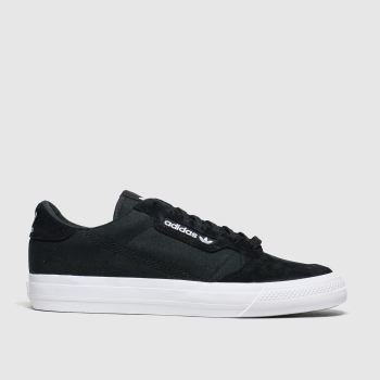 Adidas Black & White Continental 80 Vulc c2namevalue::Mens Trainers
