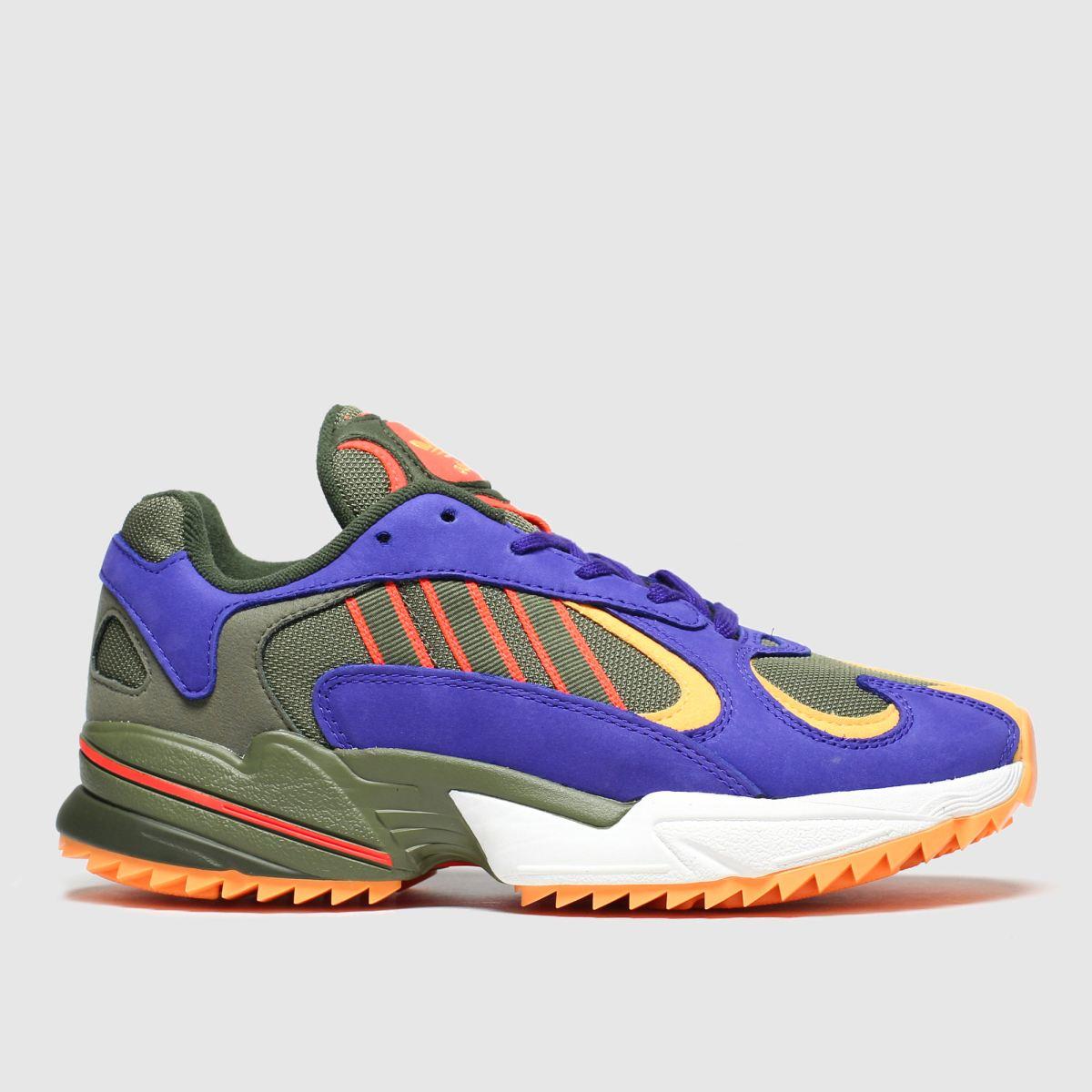 Adidas Khaki Yung-1 Trail Trainers