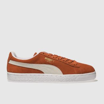 Puma Orange Suede Classic Mens Trainers