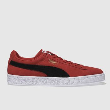 Puma Red Suede Classic Mens Trainers