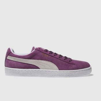Puma Purple Suede Classic Mens Trainers