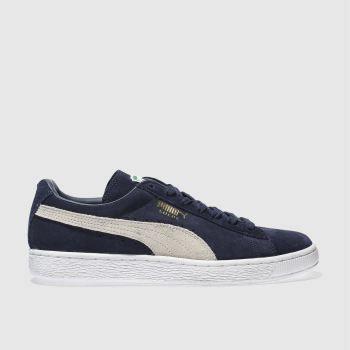 Puma Navy Suede Classic Mens Trainers
