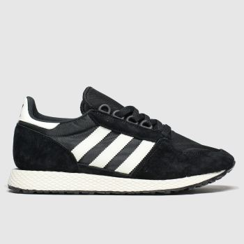 Adidas Black & White Forest Grove Mens Trainers