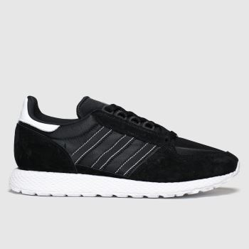 adidas Black & Gold Forest Grove Mens Trainers