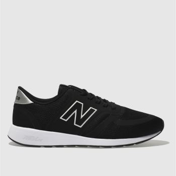 New Balance Black & White 420 Mens Trainers