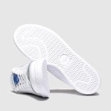 adidas white & pl blue stan smith wfq trainers