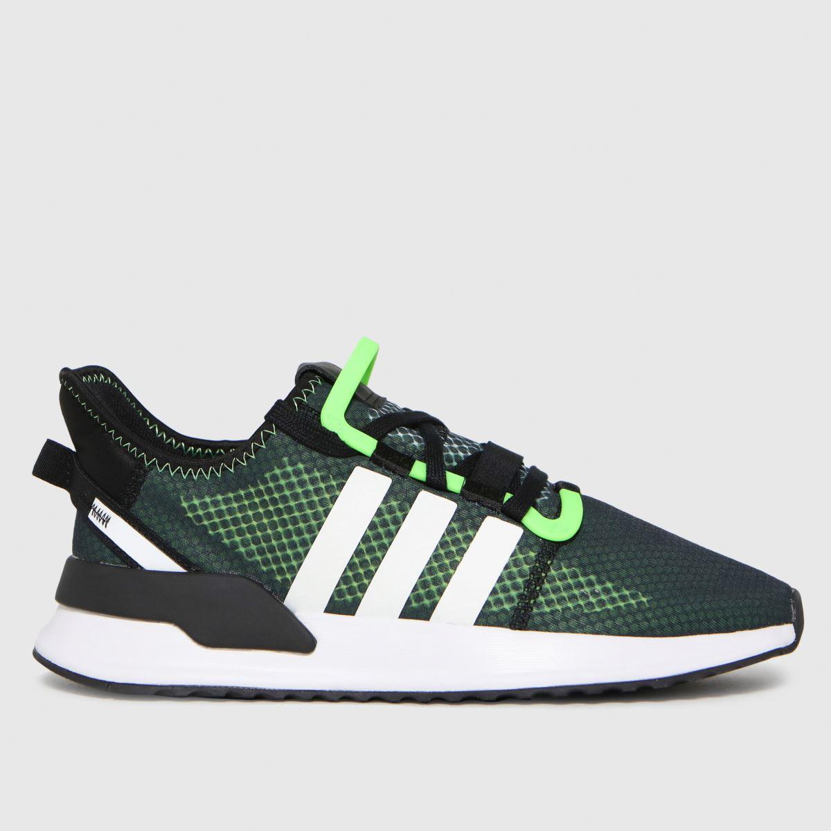 Adidas Black & Green U_path Run Trainers