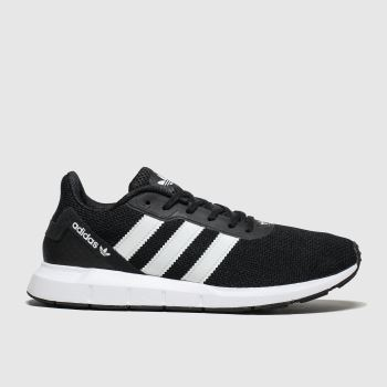 Adidas Black & White Swift Run Rf Trainers