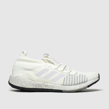 Adidas White & Black Pulseboost c2namevalue::Mens Trainers