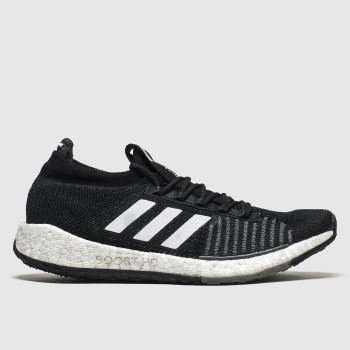 Adidas Black & White Pulseboost Mens Trainers#