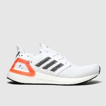 Adidas White & Black Ultraboost 20 Mens Trainers