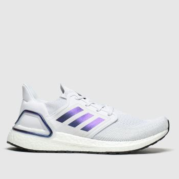 Adidas Grey & Lilac Ultraboost 20 c2namevalue::Mens Trainers