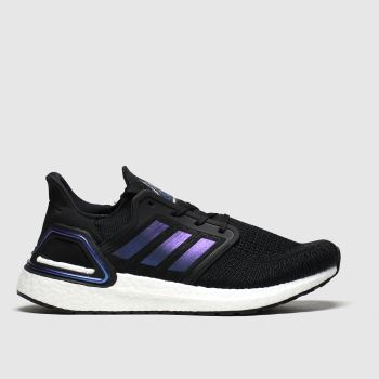 Adidas Black & Purple Ultraboost 20 Trainers