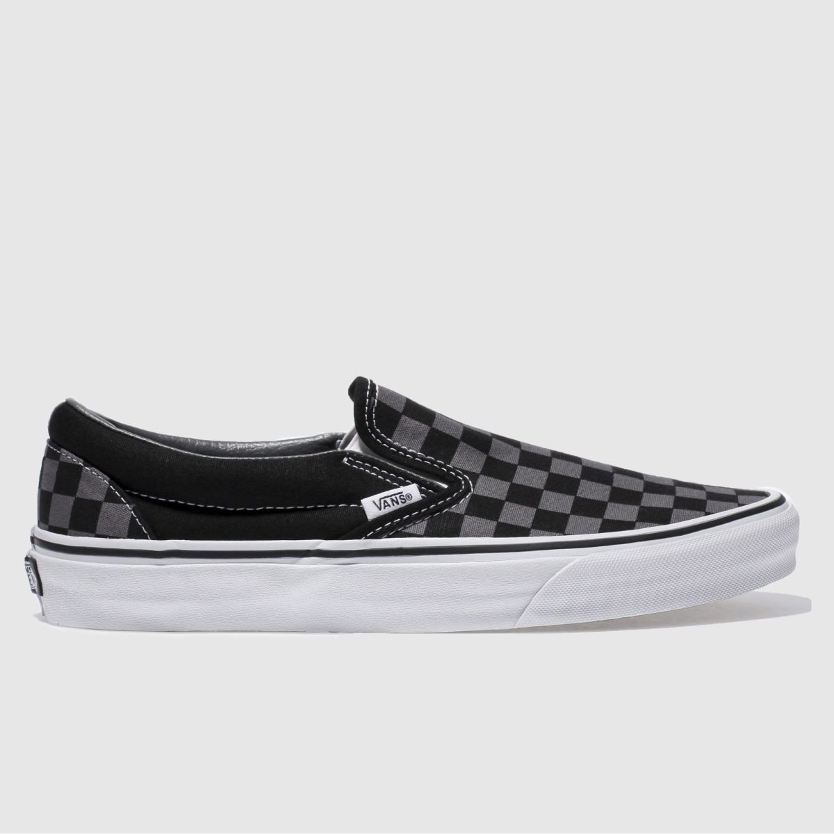 Vans Black & Grey Classic Slip On Trainers