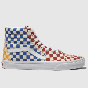 Vans Yellow & Blue Sk8-Hi Checkerboard Mens Trainers