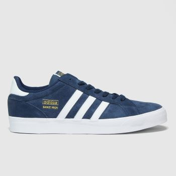 adidas Navy & White Basket Profi Lo Mens Trainers