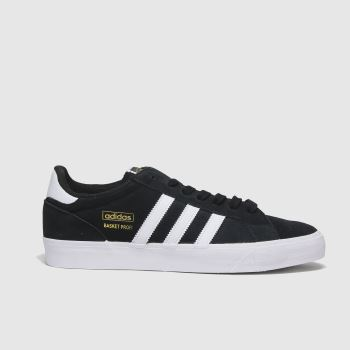 adidas Black & White Basket Profi Lo Mens Trainers