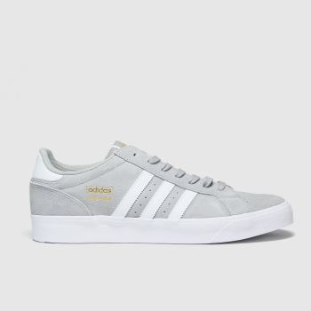 adidas Grey Basket Profi Lo Mens Trainers