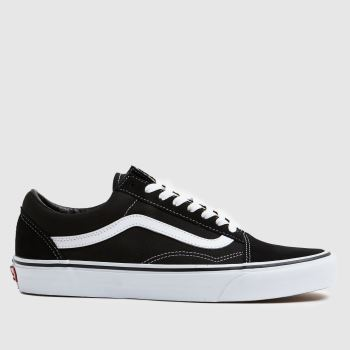 b082bfec9eaa59 Vans Black   White Old Skool Mens Trainers