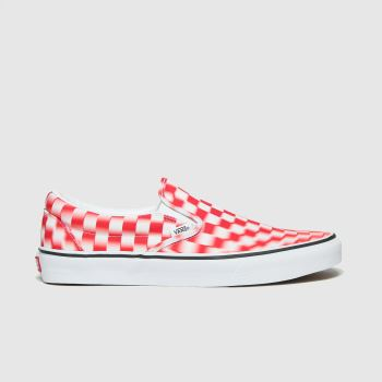 Vans White & Red Classic Slip On Blur Mens Trainers