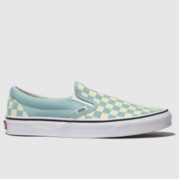Vans White & Pl Blue Classic Slip-On Mens Trainers