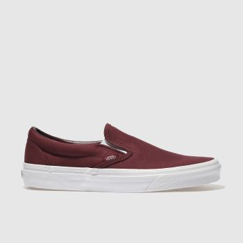 Vans Burgundy Classic Slip-on Mens Trainers