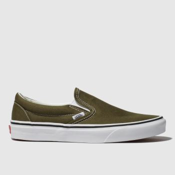 Vans Khaki Classic Slip-on Mens Trainers