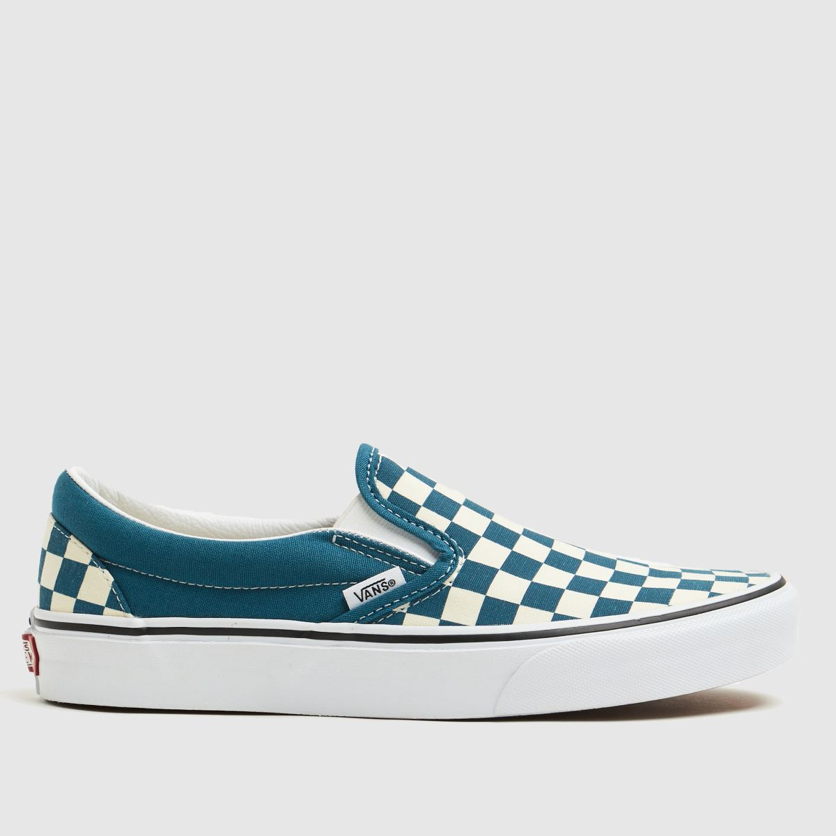 Vans Blue Classic Checkerboard Slip On Trainers