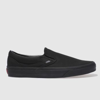 Vans Black Classic Slip On Mens Trainers#