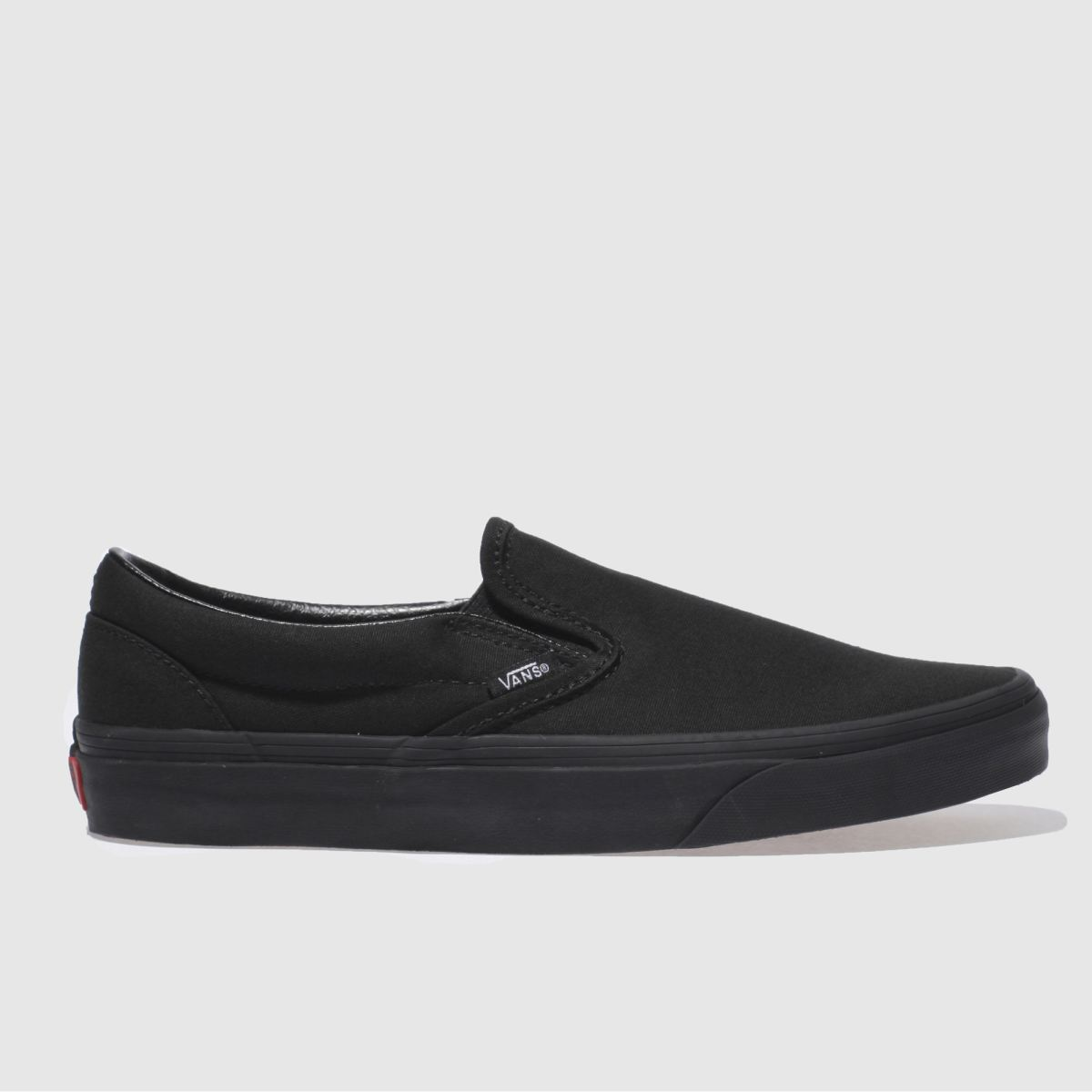 Click to view product details and reviews for Vans Black Classic Slip On Trainers.