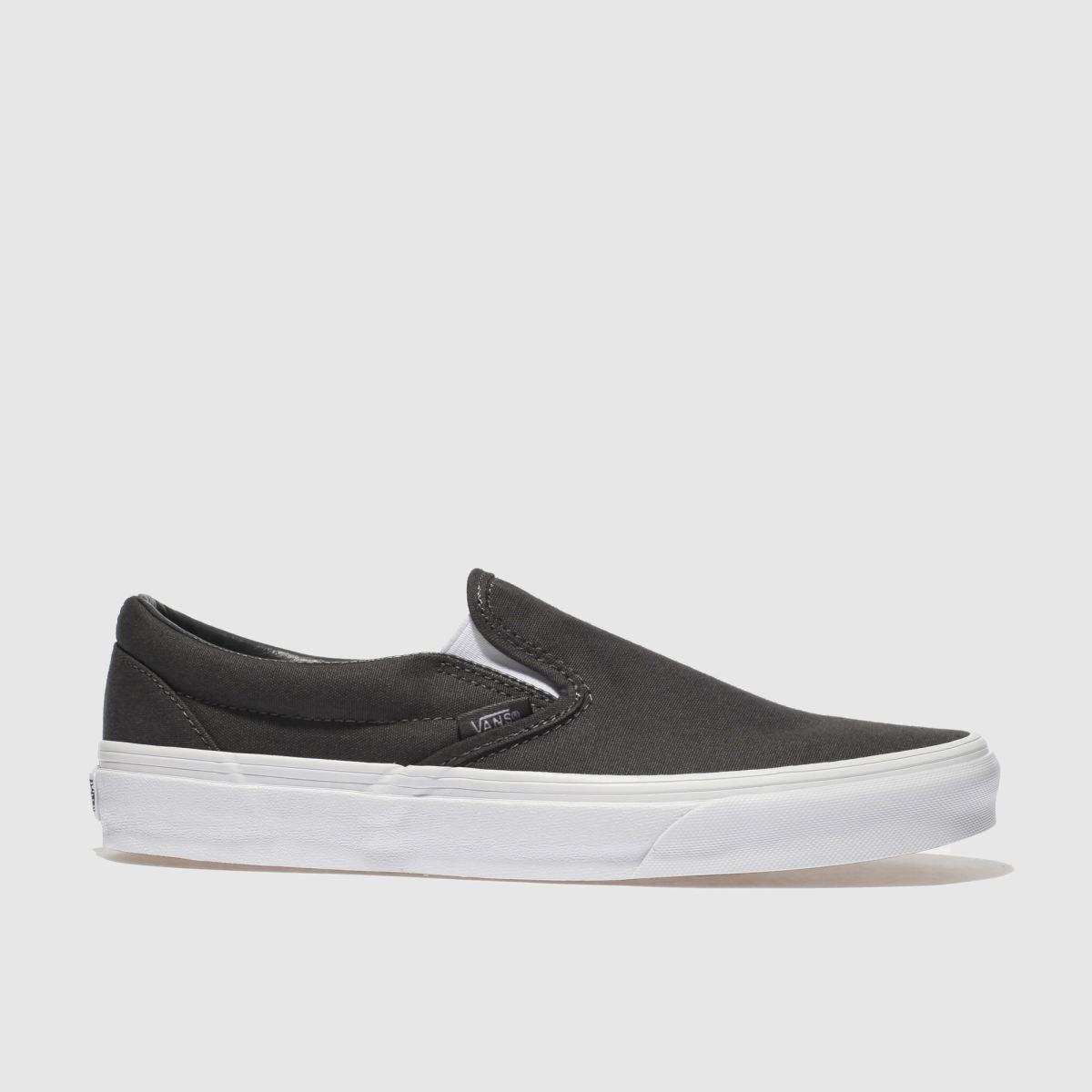 Vans Dark Grey Classic Slip-on Trainers