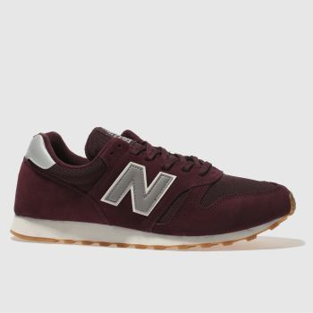 New Balance Burgundy 373 Mens Trainers