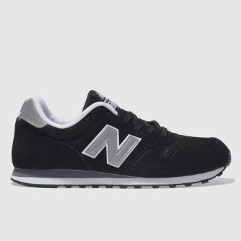the best attitude 1ceb4 a4523 New Balance Black   Silver 373 Mens Trainers