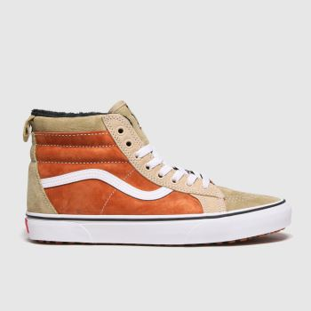 Vans Beige & Brown Sk8-hi Mte Mens Trainers#