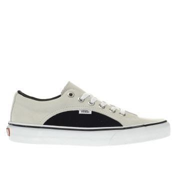 647d6fb4762c01 mens white   black vans lampin trainers