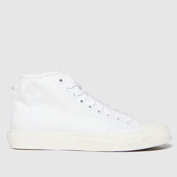 adidas White Nizza Hi Mens Trainers