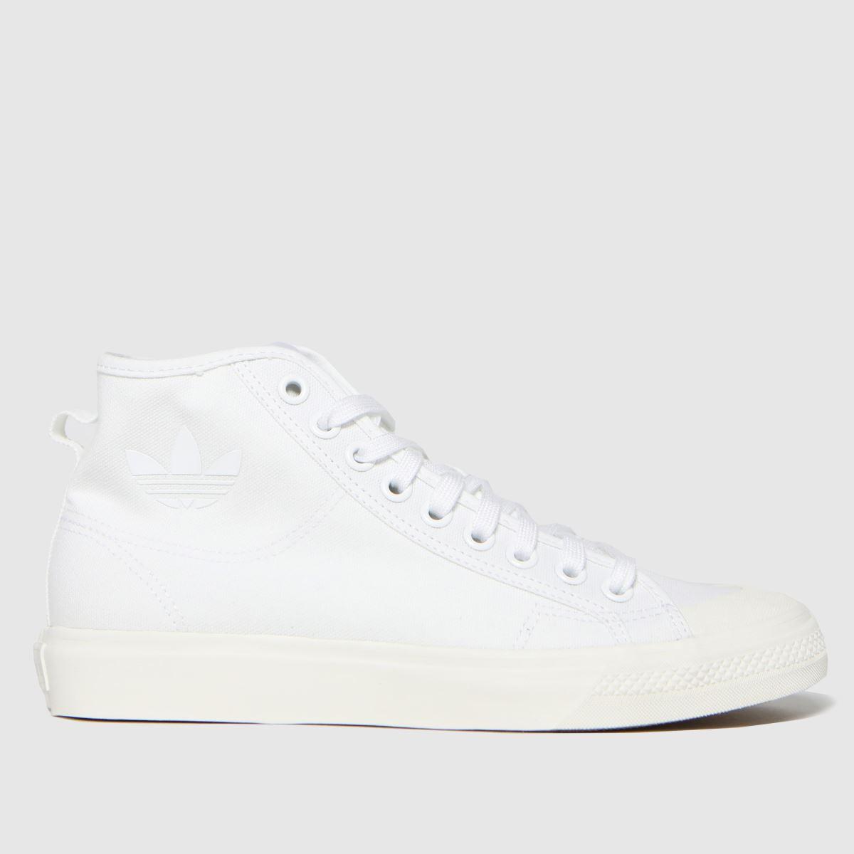 Adidas White Nizza Hi Trainers