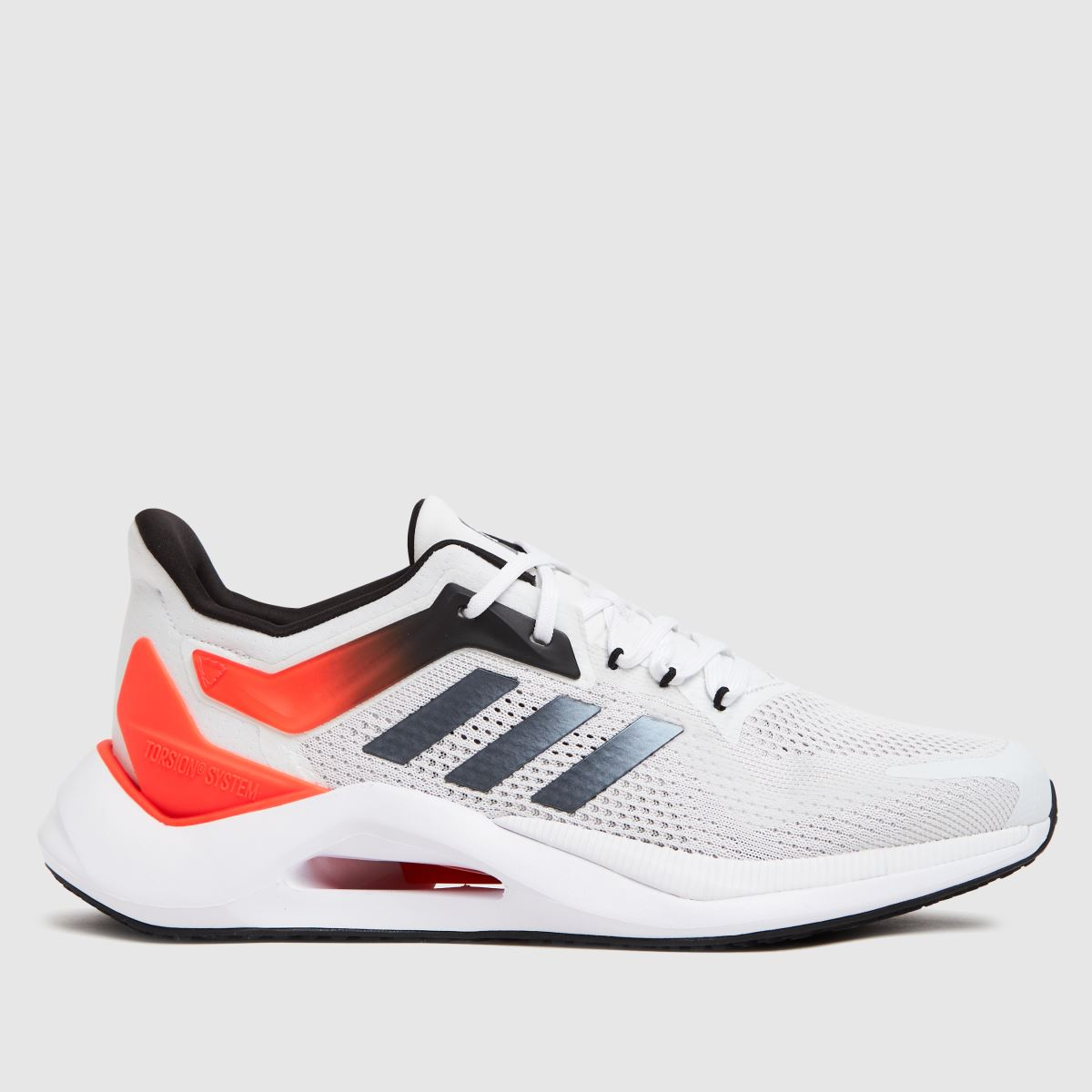 Adidas White & Red Alphatorsion 2.0 Trainers