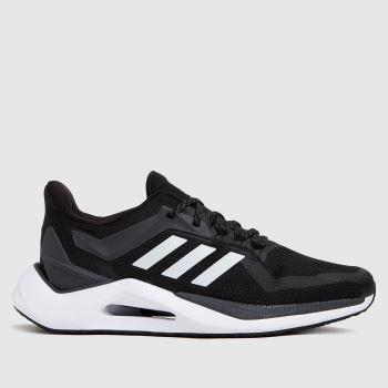 adidas Black & White Alphatorsion 2.0 Mens Trainers