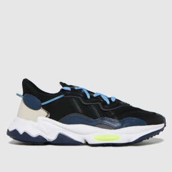 adidas Black and blue Ozweego Mens Trainers