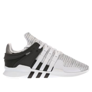 Hombre blanco & negro Adidas EQT Support ADV formadores Schuh
