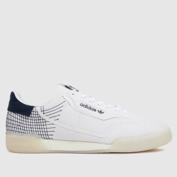 adidas White Continental 80 Primeblue Mens Trainers