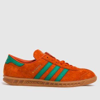 adidas Orange Hamburg Mens Trainers
